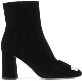 Sergio Rossi SR1 square toe ankle boots