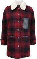 MM6 MAISON MARGIELA checked short coat - women - Polyester/Viscose/Wool - 44