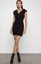 BCBGMAXAZRIA Ruffle Collar Mini Dress