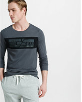 Express gray nyc graphic long sleeve t-shirt