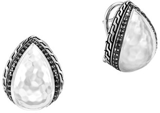 John Hardy Classic Chain Sterling Silver & Mixed-Stone Buddha Belly Stud Earrings