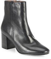 Frye Jodi Leather Block-Heel Booties