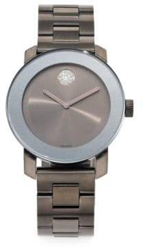 Movado Bold Grey IP Stainless Steel Bracelet Watch