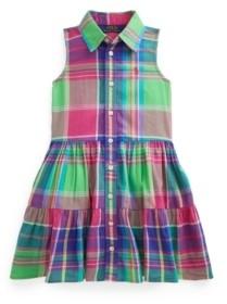 Polo Ralph Lauren Toddler Girls Madras Shirtdress