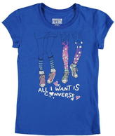 Converse Short Sleeve TShirt Junior Girls