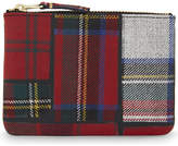 Comme des Garcons Tartan small wool pouch