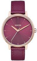 Nixon Women's 'Kensington' Quartz Metal and Leather Automatic Watch, Color:Pink (Model: A1082479-00)