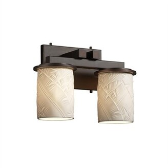 Darby Home Co Devaughn Straight 2-Light Vanity Light Darby Home Co Finish: Brushed Nickel, Shade Pattern: Bamboo
