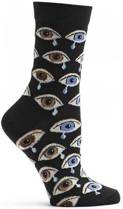 Ozone Women's Lonely Teardrop Sock Black 9-11