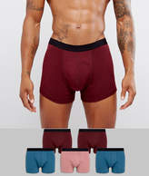 Asos Trunks In Red Blue & Pink 5 Pack SAVE