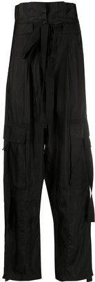 Lee Mathews High-Waisted Paperbag Trousers