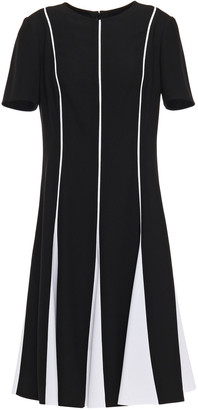 Carolina Herrera Pleated Two-tone Crepe Dress