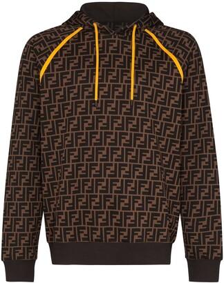 Fendi FF logo print hoodie