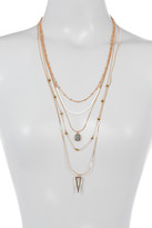 Vince Camuto Multi Layer Bead & Chain Necklace