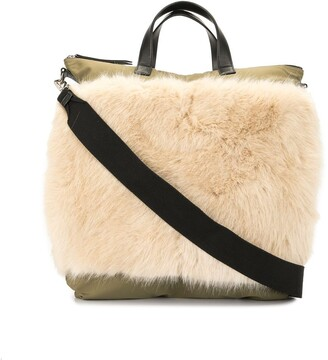 Ports V Faux-Fur Panel Technical Tote