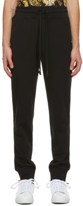 Versace Jeans Couture Black Pocket Logo Lounge Pants