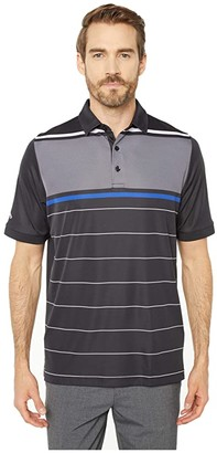 Callaway SWING TECHtm Yarn-Dyed Engineered Chest Oxford-Striped Polo (Caviar) Men's Clothing