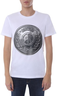Moschino Coin Logo Printed T-Shirt