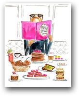 The Well Appointed House Brunch Date Colorful Art Print