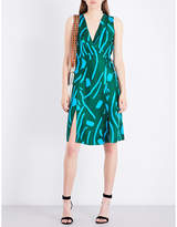 Diane von Furstenberg Abstract-pattern silk wrap dress