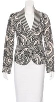 Etro Paisley Print Linen Blazer