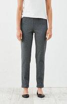 J. Jill Ponte Knit Slim-Leg Twill Pants