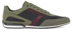 HUGO BOSS Low-top trainers in mixed materials with logo details