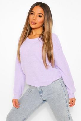 boohoo Petite Oversized Knitted Jumper