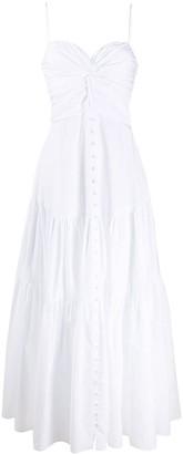 Brognano Twist Detail Flared Dress