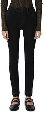 Maje Presta High-Rise Skinny Jeans in Anthracite