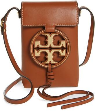 Tory Burch Miller Leather Phone Crossbody Bag