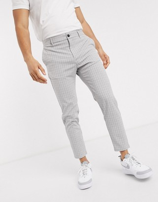 Bershka skinny corduroy pants in gray