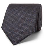 Ermenegildo Zegna - 8cm Silk-jacquard Tie