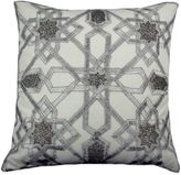Bed Bath & Beyond Zeigal Beaded Square Throw Pillow in Silver