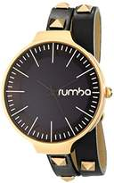 RumbaTime Orchard Double Wrap Lights Out Analog Display Japanese Quartz Watch