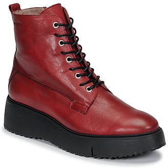 Wonders women's Mid Boots in Red