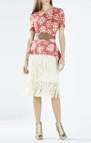BCBGMAXAZRIA Kellsie Knit Jacquard Peplum Top