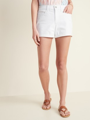 Old Navy Mid-Rise White Jean Shorts for Women