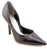 GUESS Carrie Women Pointed Toe Leather Black Heels.