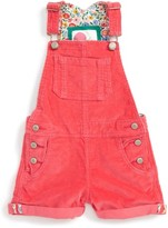 Girl's Mini Boden Adventure Short Overalls