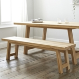 The White Company Solid Oak Bench