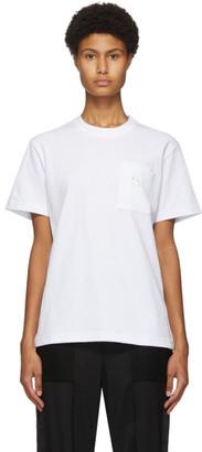 Sacai White S Embroidery T-Shirt