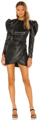 Bronx and Banco Donatella Vegan Leather Mini Dress