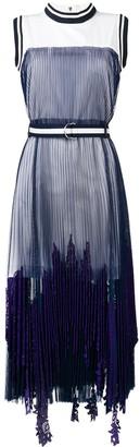Sacai Plated Maxi Dress