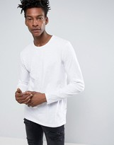 Minimum Perry Long Sleeve Top Slim Fit In White