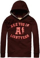Scotch & Soda Kids Hooded Sweatshirt (Kid) - Burgundy-4