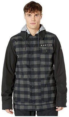 Burton Dunmore Jacket (True Black Heather Buffalo Plaid) Men's Coat