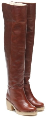 Dorothee Schumacher Sporty Elegance over-the-knee leather boots