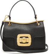 Miu Miu Waved-frame grained-leather shoulder bag