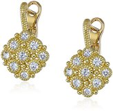 Judith Ripka La Petite 18k Gold Diamond Snowflake Drop Earrings (1/2cttw, G-H Color, SI1 Clarity)